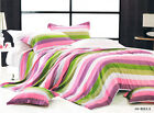 Cotton Long King/Queen Quilt Cover Set 210x 230cm Rainbow Style New Postage Free