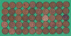 CANADA SMALL CENT ROLL OF 50 CIRCULATED COINS 1939 - 78