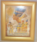 Beautiful Egyptian Papyrus in glazed picture frame