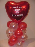 """Personalised 18"""" Foil Balloon Decoration Table Display"""