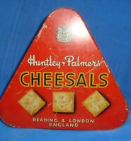 Old Vintage Tin Huntley Palmer Biscuit Box from England 1930 Very Rare