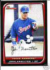 2008 Bowman W/Chrome Texas Rangers Team Set Michael Young Josh Hamilton 11