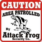 Caution Attack Frog Sign - Many Pets & Wildlife Animals