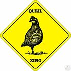 Quail Xing Sign - Many Bird & Wildlife Animals Crossing