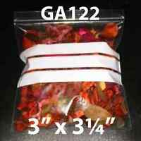 200 Grip Seal Write on Panel Reseal Bags 76x83mm GA122