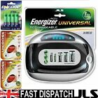 Energizer Charger & 4AA 2 x 9V RECHARGEABLE Batteries