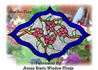 VICTORIAN STYLE STAINED GLASS EFFECT WINDOW CLING DECAL