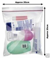 10 Airport Security Hand Luggage Liquid Bags