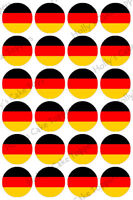 GERMANY FOOTBALL WORLD CUP CAKE Rice Paper Toppers x 24