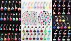 25-50-75-100 14g Belly Rings WHOLESALE Body Jewelry lot