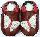 Leather Baby Infant Kid Boy Girl Butterfly Shoes 12-18M