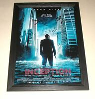 """INCEPTION CAST X4 PP SIGNED & FRAMED 12""""X 8"""" POSTER"""