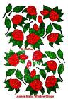 ROSE LEAVES WINDOW CLING STAINED GLASS EFFECT DECAL SUN CATCHER ROOM DECORATION
