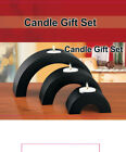 3-Piece Wooden Arch Candle Holders Gift Set (CH1200)