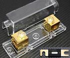 CAR STEREO AUDIO INLINE ANL GOLD PLATE FUSE HOLDER 0 2 4 GAUGE 250 AMP 250A 133