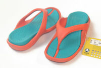 Crocs Kids Athens Flip Flop Sandals Orange Turquoise C12/13 J1=M1/W3 J2=M2/W4
