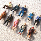 10 pcs All Sitting Figures O scale 1:48 Painted People