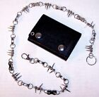 HEAVY WALLET CHAINS BIKE CHAIN SPIKES metal jewelry.