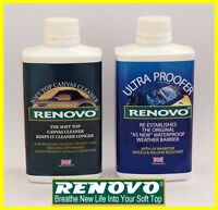 """Renovo,Canvas,Soft Top, Hood,""""Cleaning & Proofing Kit"""". 2 x 500ml."""