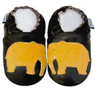 Soft Sole Leather Baby Infant Kid Boy Girl Elephant Brown Shoes 12-18M