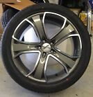 19x8 COMMODORE VE VZ VY VX VT GUNMETAL ADVANTI CHOPPER TYRE PACKAGE