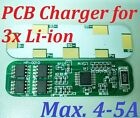 Max. 4-5A PCB BMS Protection Board for 3 Packs 3.7V Li-ion 18650 Battery Cell