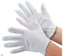 White Polyester Gloves Adult and Child Sizes FREE SHIP