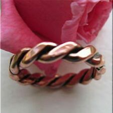 Solid Copper Ring Thick Twist Band CR021 Available in sizes 5 to 13