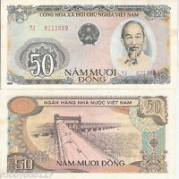 VIETNAM 50 Dong Banknote World Paper Money aUNC Currency BILL pick 97 1985 Note
