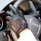 Brand Warmen real lambskin leather Gloves for men w/three lines at back M017PQ