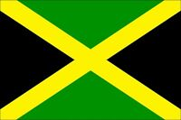 JAMAICAN JAMAICA LARGE NATIONAL FLAG 5X3FT 5'X3' NEW PACKED EYELETS FOR HANGING