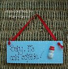 """Christmas Sign """"Baby, It's Cold Outside"""" Xmas Wooden Plaque Decoration SNOWMAN"""