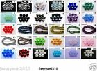 Freeshipping 100Pcs Top Quality Czech Crystal Faceted Rondelle Beads 4x 6mm Pick