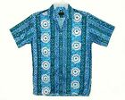Men 60's-70's Vintage LIBERTY HOUSE Hawaiian Aloha Shirt STYLIZED TRIBAL Sz M