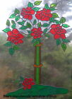 BEA'S LARGE ROSE TREE STAINED GLASS EFFECT WINDOW CLING DECAL