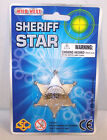 12 CARD LARGE METAL STAR PRETEND SHERIFF BADGE play cowboy costume play sherrif