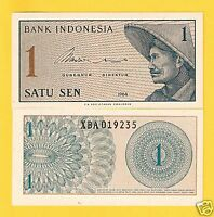INDONESIA 1 Sen Banknote World Paper Money UNC Currency Asia Bill pick 90 Note