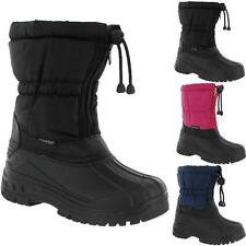 BOYS GIRLS WINTER SNOW BOOTS KIDS FUR THERMAL MUCKER SKI MOON WELLINGTONS BOOTS