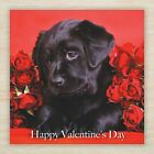 Valentines Day Card Husband Wife Boyfriend Girlfriend Partner Roses Dog Hearts