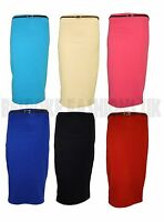 NEW WOMENS LADIES KNEE LEGTH PENCIL SKIRT WITH BELT 8-14