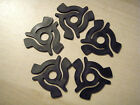 5 X BLACK 45 RPM RECORD ADAPTERS / CENTRES / SPIDERS