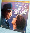 LD laserdisc TWO for the SEESAW Panavision ROBERT MITCHUM-SHIRLEY MacLAINE