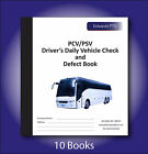 10 x Driver's Daily Vehicle Check & Defect Book-PCV/PSV-20 Part Duplicate