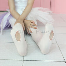 GIRLS BOYS HOLE  BALLET DANCE TIGHTS-WHITE,PINK,-SIZE S,M,L-MADE IN KOREA