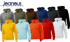 MENS HANES PLAIN FULL ZIP HOODIE HOODED SWEAT TOPS IN 11 COLOURS S/M/L/XL/XXL