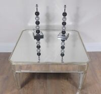 Art Deco Mirrored Coffee Table Mirror Borghese Furniture Cocktail Tables