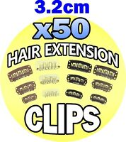 3.2cm 32mm Blonde Hair Extension Snap Clips Weft Wig Grips Medium Remy