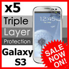 5x Clear Screen Protector Film For Samsung Galaxy S3 i9300 SIII S III 3 Cover