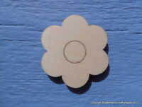 4cm Wooden Flower Daisy Embellishment Craft Blank Shape Pack of 10