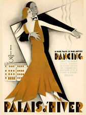 Tango Dance Dancing Fashion Couple France French Vintage Poster Repro FREE SH